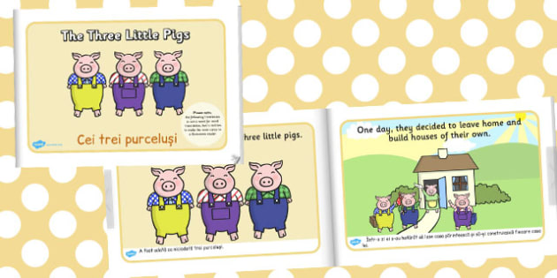 The Three Little Pigs eBook Romanian Translation - traditional