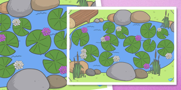 Large A2 Pond with Lilypads - large, a2, pond, lilypads, display