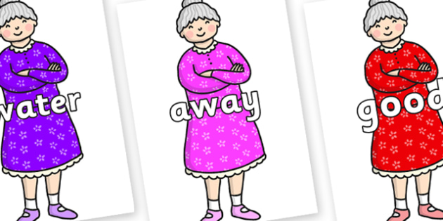 Next 200 Common Words on Enormous Turnip Old Woman - Next 200 Common Words on  - DfES Letters and Sounds, Letters and Sounds, Letters and sounds words, Common words, 200 common words