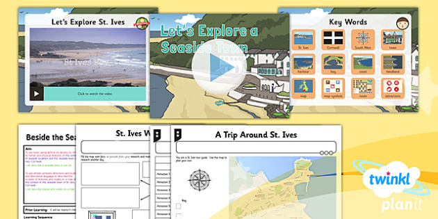 Geography: Beside the Seaside: Let's Explore a Seaside Town Year 2 Lesson Pack 4