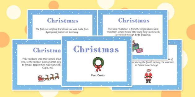 Christmas Display Fact Cards - christmas, display, facts, cards