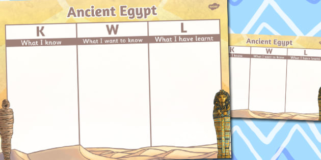 Ancient Egypt Topic KWL Grid - ancient egypt, topic, kwl, grid