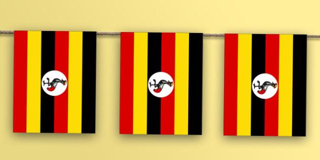 Uganda Flag Bunting - nation, international, geography, culture, display, Africa, olympics