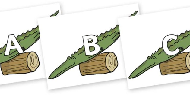 A-Z Alphabet on Trick Two to Support Teaching on The Enormous Crocodile - A-Z, A4, display, Alphabet frieze, Display letters, Letter posters, A-Z letters, Alphabet flashcards