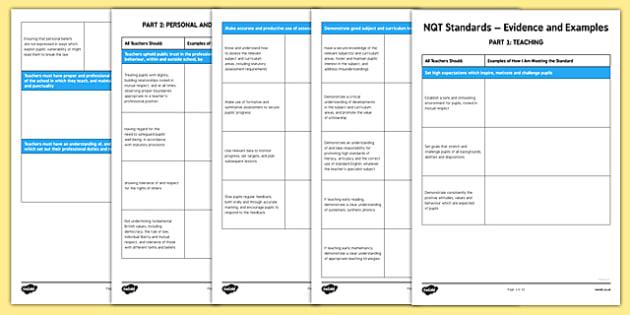 Evidencing NQT Standards - evidencing, nqt, standards, evidence