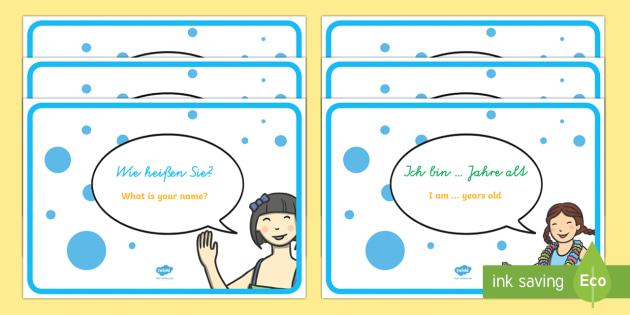 German Basic Phrase Posters - MFL, German, Modern Foreign Languages, basic phrases in German, foundation, languages, display