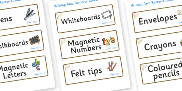 Owl Themed Editable Writing Area Resource Labels - Themed writing resource labels, literacy area labels, writing area resources, Label template, Resource Label, Name Labels, Editable Labels, Drawer Labels, KS1 Labels, Foundation Labels, Founda