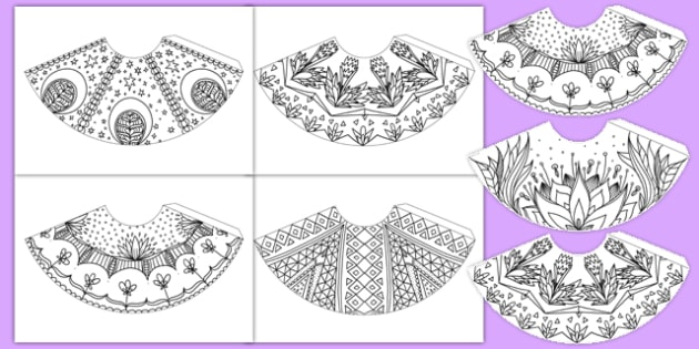 Mindfulness Colouring Cones - mindfulness, colouring, cones, colour, colouring cones, stress, de-stress, calm