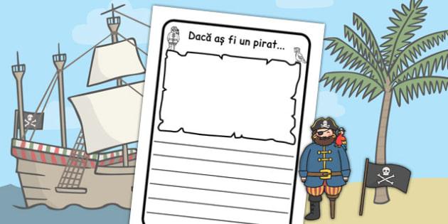 Dacă aș fi un pirat - Cadru pentru scriere