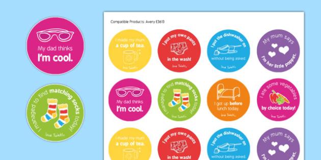 Teenaging Stickers - teen, teens, teenager, reward, award, sticker, funny, joke, behaviour, home, parent