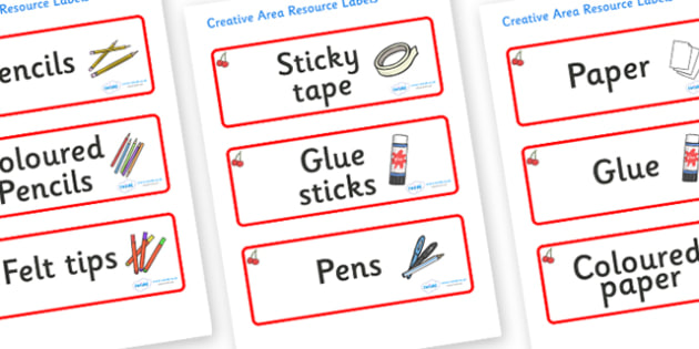 Cherry Themed Editable Creative Area Resource Labels - Themed creative resource labels, Label template, Resource Label, Name Labels, Editable Labels, Drawer Labels, KS1 Labels, Foundation Labels, Foundation Stage Labels