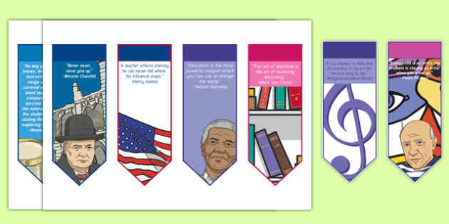 Teacher Encouraging Editable Bookmarks
