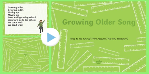 Growing Older Song PowerPoint
