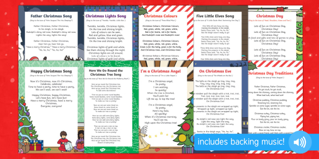Christmas Themed Songs and Rhymes Pack - christmas, themed, songs, rhymes, pack