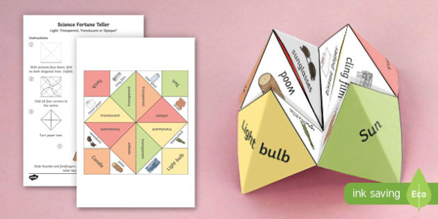 Y3 Science Light Fortune Teller Other