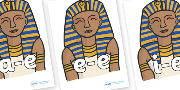 Modifying E Letters on Pharaoh - Modifying E, letters, modify, Phase 5, Phase five, alternative spellings for phonemes, DfES letters and Sounds