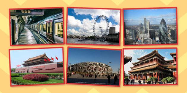 London or Beijing Sorting Cards - london, beijing, sorting, cards