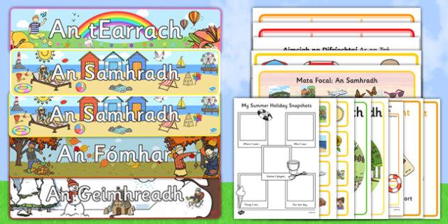 Irish Gaeilge Summer/Samhradh  Activity Pack-Irish