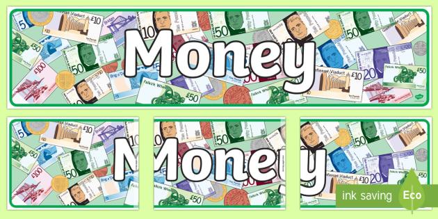 CfE Scottish Money Display Banner - Scottish money, Scottish notes,Scottish