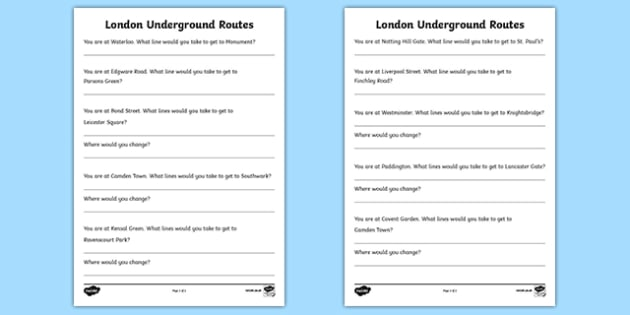 London Underground Routes Writing Frames - London, captial, underground, map, routes, writing frames, frames, writing, England, tourism, tourist, information, Big Ben, Parliament, Tower Bridge, sight seeing