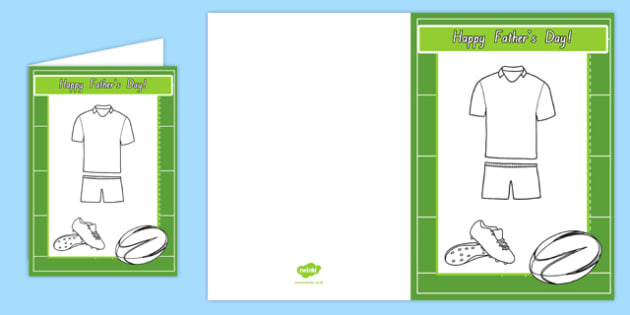 Father's Day Design a Rugby Kit Gift Card Template