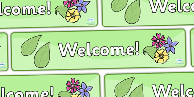 Garden Centre Welcome Display Banner (1) - Banner, display, garden centre, welcome, plants, plant, topic