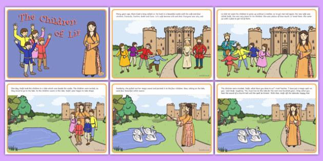 The Children of Lir Story - Irish history, Irish story, Irish myth, Irish legends, The Children Of Lir, story cards, printable
