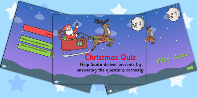 Christmas Quiz PowerPoint Editable - christmas, powerpoint, xmas