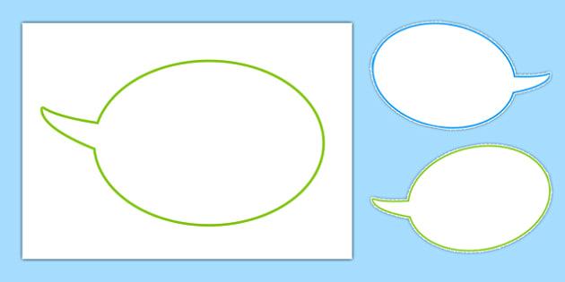Editable Speech Bubbles - speech, bubbles, editable, bubble