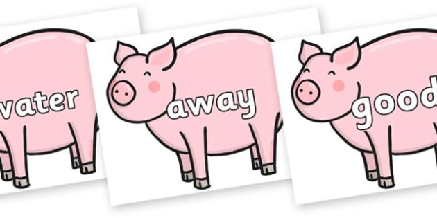 Next 200 Common Words on Chinese New Year Pig - Next 200 Common Words on  - DfES Letters and Sounds, Letters and Sounds, Letters and sounds words, Common words, 200 common words