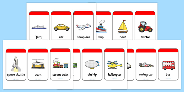 Transport Flash Cards - flash cards, cards, flash, image cards, word cards, transport, travel, travelling, transport cards, transport visual aid, quick cards, help cards, visual aid, reference cards