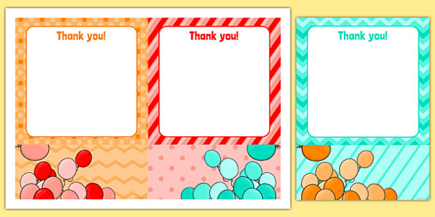 4th Birthday Party Thank You Notes - 4th birthday party, 4th birthday, birthday party, thank you notes