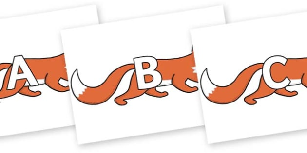 A-Z Alphabet on Hullabaloo Fox to Support Teaching on Farmyard Hullabaloo - A-Z, A4, display, Alphabet frieze, Display letters, Letter posters, A-Z letters, Alphabet flashcards