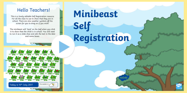Minibeasts Self Registration PowerPoint - powerpoint, power point, interactive, powerpoint presentation, minibeasts self registration, minibeast powerpoint, minibeast themed self registration powerpoint, presentation, slide show, slides, discussion a