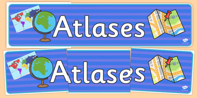 Atlases Display Banner - display banner, display, banner, atlases, geography, map, world