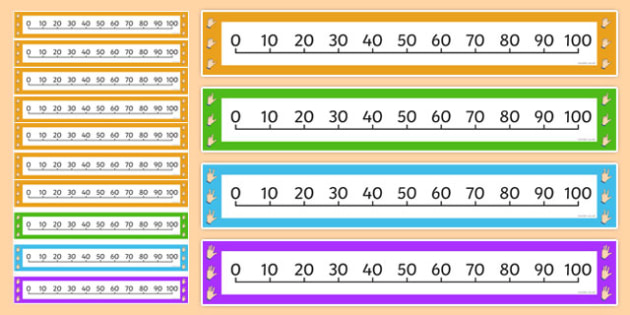 Counting in 10s Number Line - Counting, Numberline, Number line, Counting on, Counting back, even numbers, foundation stage numeracy, counting in 10s, numeracy, number line, counting, counting in 10