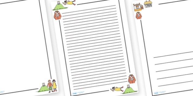 Jack and Jill Page Borders - Jack and Jill, nursery rhyme, page border, border, writing template, frame, rhyme, rhyming, nursery rhyme story, nursery rhymes, Jack and Jill resources