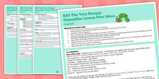 KS1 Lesson Ideas to Support Teaching on The Very Hungry Caterpillar - ks1, caterpillar
