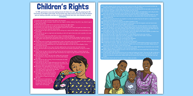 Children's Rights Display Display Poster - UN Convention, children's rights, rights of the child, respect, rights, Health and Wellbeing, PSHE, Rights Respecting Schools, UN Charter