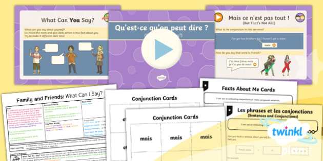 French: Family and Friends: What Can I Say? Year 5 Lesson Pack 6