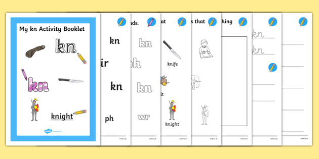 Kn Grapheme Phase 5 Alternative Spellings Activity Booklet