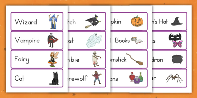 Halloween Fancy Dress Shop Role Play Labels - american, us, usa, trick or treat, role play, shopping, maths, adding, money, counting, dressing up, costumes, display, kindergarten, ks1, early years, schedule, weekly, rota, opening, closing