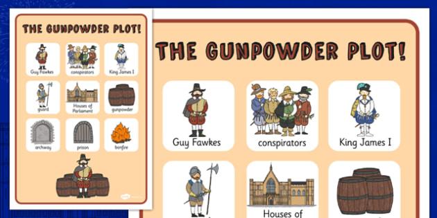 The Gunpowder Plot Vocabulary Poster - Gunpowder, Fawkes, Bonfire