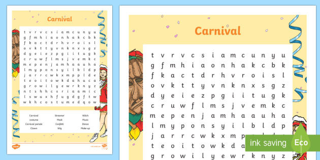 Carnival Suchsel - Carnival, Fasching, Farben, Englisch, Colours,