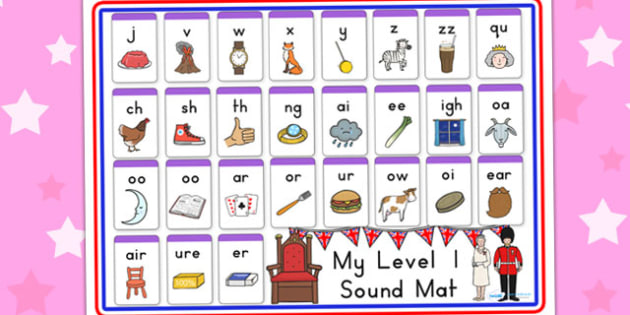 Royal Family Level One Sound Mat - royality, sounds, visual aids