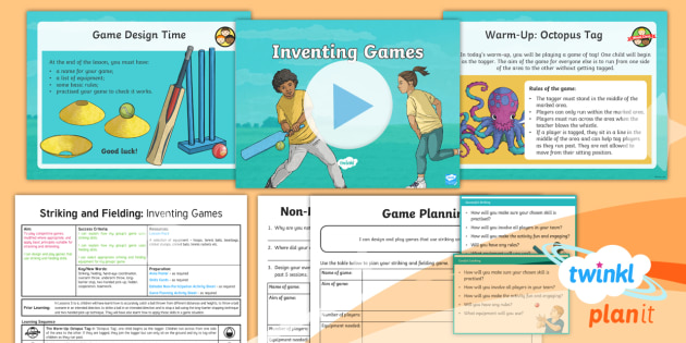 PE: Striking and Fielding: Inventing Games Year 3 Lesson Pack 6