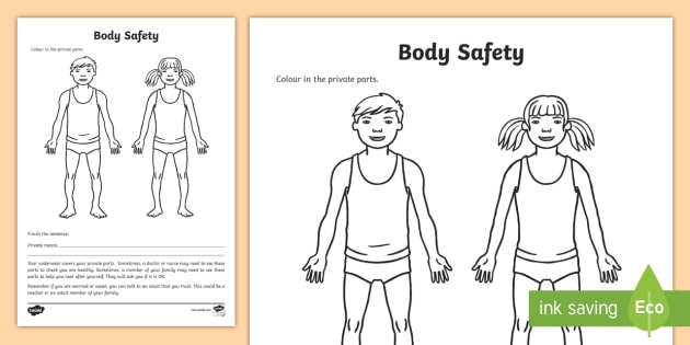Body Safety Activity - Body safety, body awareness, private parts, staying safe, ASD, autism