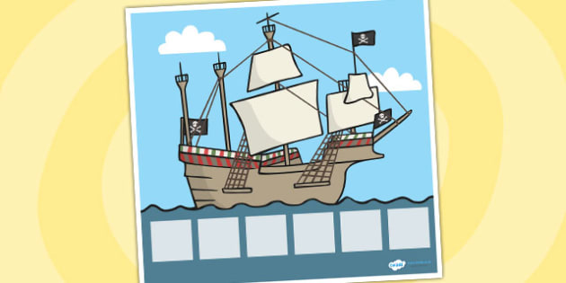 Pirate Visual Timetable Display - Visual Timetable, education, home school, child development, children activities, free, kids, pirate, special needs