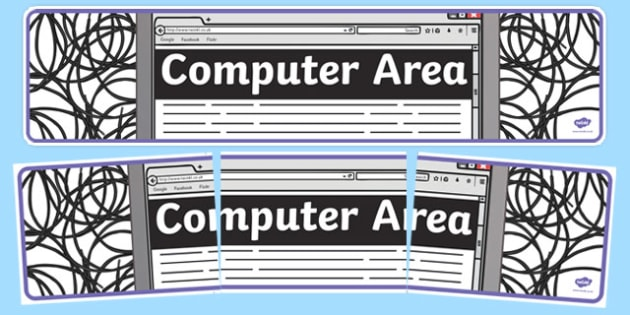 Computer Area Display Banner - computer area, display, photo banner, banner, display banner, display header, themed banner, photo display, photos