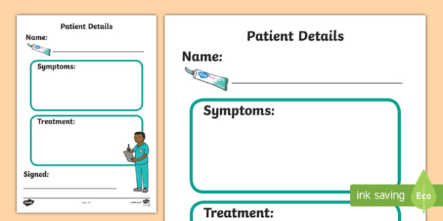 Dental Surgery Role Play Patient Details - dental surgery, dentist, role play, patient details